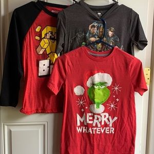Assorted youth Tees set of 3, size large (10/12).
